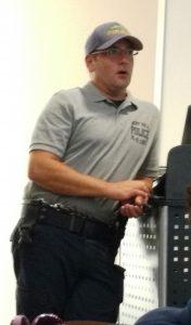 Sgt. Gilman teaching the K9 class