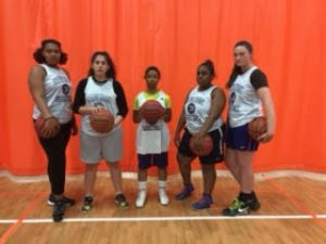 From left to right: Jewell Williams, Faoz Francis, Tiffany Lindsay, Trinity Sutton, and Ashleigh Aberly.