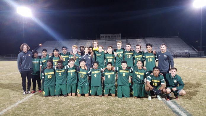 Independence Patriots High School Varsity Soccer Team.