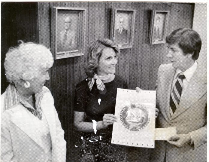 Troy Pollard with Town Seal