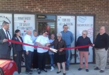 Commissioner Ross was on hand to help with the ribbon cutting