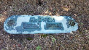 Graves of Carl J. McEwen's parents