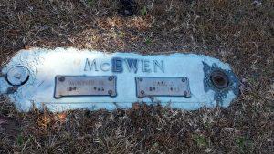 Graves of Carl Jm McEwen and Minnie Belle McEwen