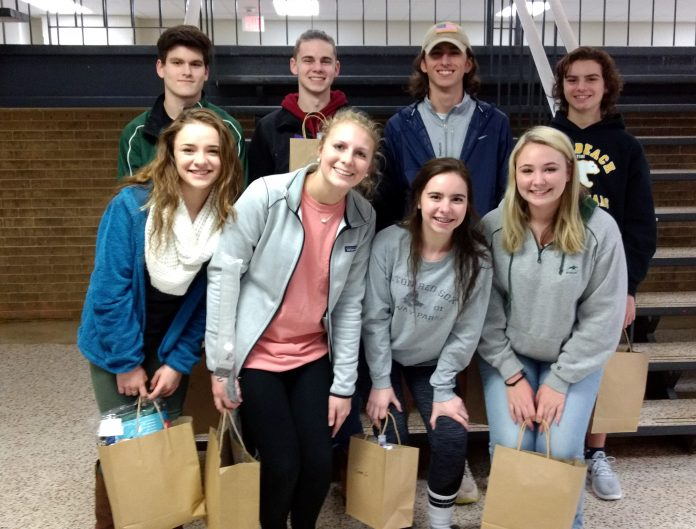 (Top Fundraisers) (l to r) first row; Payton Brown, Jordyn Gerringer, Sierra Connor, Lilly McConathy, second row; Matt Kulikowski, Dylan Connor, Dylan Barnett, Chris Peletier (not pictured Carolina Jackson)