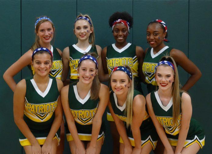 senior patriot varsity cheerleaders at independence high school