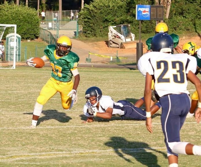 indys junior varsity running back davion nelson looks for running room in wednesdays win over east meck at independence high school ron morris